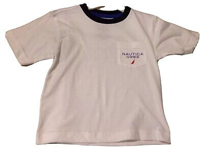 NWT NAUTICA BOYS GRAPHIC T-SHIRT SIZE 4T WHITE MSRP $19.95