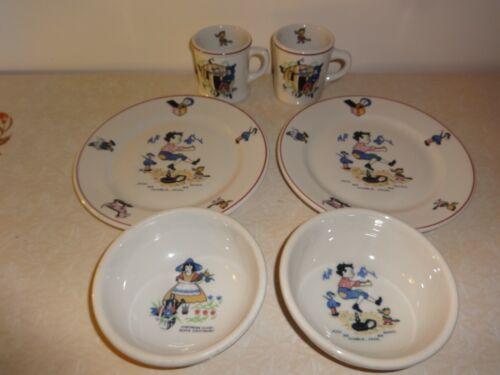 2 Sets of Vintage Shenango China Nursery Rhyme Plates, Bowls, Mugs- Children