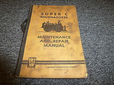 Letourneau Super C Tournadozer Dozer Shop Service Repair Maintenance Manual