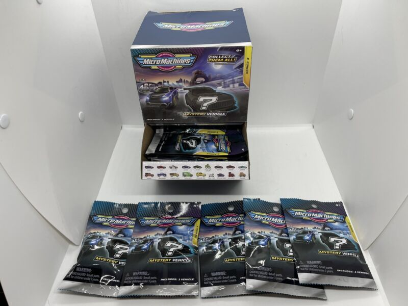 2020 2021 Micro Machines Series 3 Single Packs Open Box of 23 blind bags