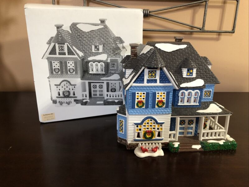 "Department 56 Snow Village Architecture Series ""Shingle Victorian"" w/Box GUC"