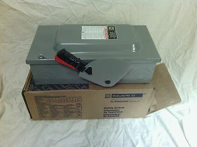 ***NIB*** Schneider/Square D HU362 Series F05 60 Amp, 600 Volt Safety Switch