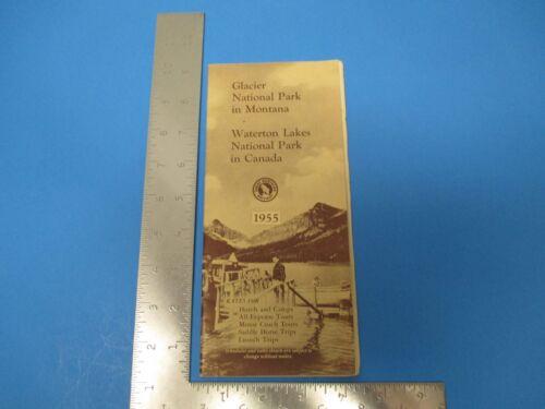 Vintage 1955 Glacier National Park Montana Travel Brochure Waterton Lakes S3164