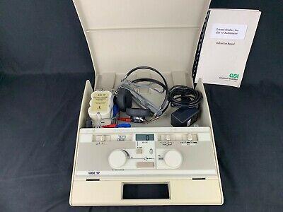 Grason Stadler Gsi 17 Ref 1717 Audiometer W Power Supply Headphones