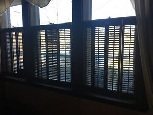 Wood shutters suits Victorian home