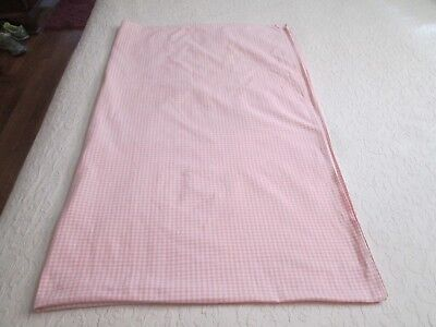 Romantika Home Light Pink and White Gingham Checked Fabric Tablecloth