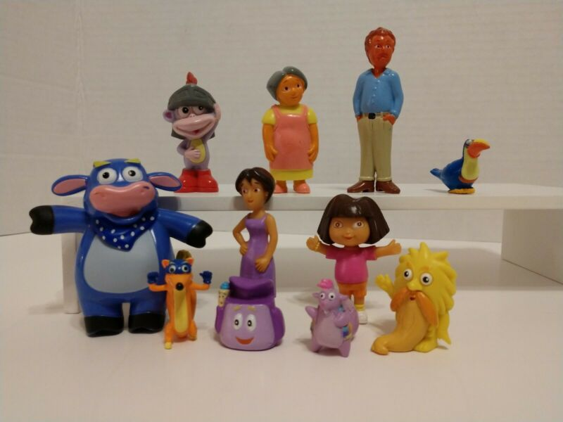 Dora the Explorer 11 PCS Movie Cartoon Action Figure Toys Cake Toppers Gifts