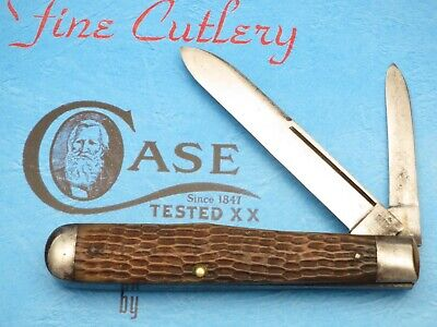 Antique CASE TESTED 1920-1940 6211 Long Pull Cheetah Pattern Large Jack Scarce