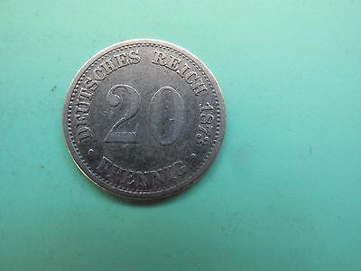 20 Pfennig 1873 A, Silber