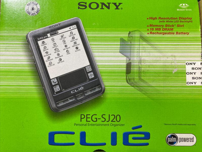 Sony PEG-SJ20 Personal Entertainment Organizer CLIÉ 2002 - Palm OS Ver 4.1