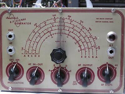 Heathkit Sg-6 Signal Generator  Awa Sss 243