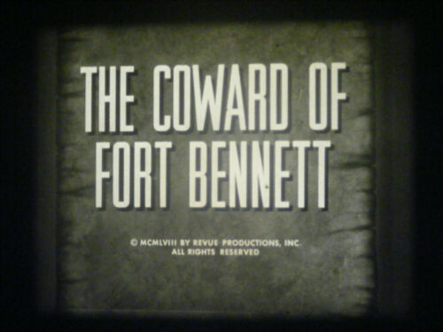 """16MM SOUND-GE THEATER-""""THE COWARD OF FORT BENNETT""""-1958-RONALD REAGAN"""