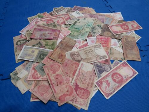 Mixed Foreign Banknotes Lot of 200+ World Paper Money Foreign Currency Lot