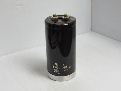Hitachi Capacitor Fxa 3300 Mfd 450 Vdc Surge 500 Vdc - Used