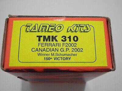 1/43 KIT 310 Tameo Ferrari F2002 Canada GP 02 Schumacher Formula 1 AMR BBR GTO