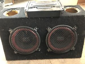 "MTX 10"" Subwoofers in box with amp"
