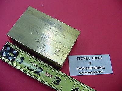 1 X 2 C360 Brass Flat Bar 3 Long Solid Plate Mill Stock H02 1.00x 2.00x 3