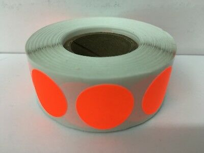 500 Labels Round 2 Inch Neon Red Color Coding Coded Inventory Sticker Dots