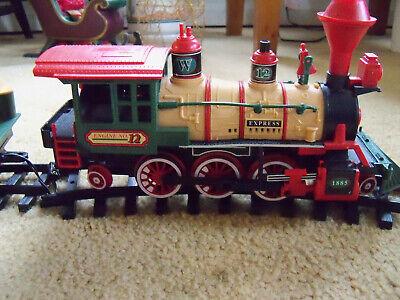 VTG 1986 NEW BRIGHT WINTERSVILLE EXPRESS HOLIDAY CHRISTMAS TREE TRAIN SET NO182