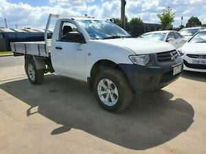 2015 Mitsubishi Triton GL Single Cab Tray Ute HIGH RIDER LOW KMS Williamstown North Hobsons Bay Area Preview