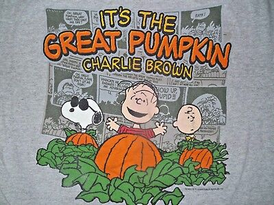 It's The Great Pumpkin Charlie Brown Snoopy Halloween T-Shirt Comics Mens Medium ()
