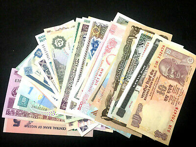 Uncirculated Lot of 5 Different Foreign PAPER MONEY BANKNOTES WORLD CURRENCY