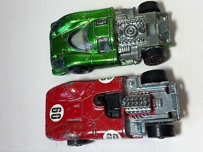 Hot Wheels Redline Red Enamel Ferrari 312P & Porsche 917 Both W/o Backs