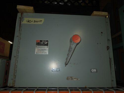 Fpe Qmqb4036rst46 400a 3p 600v Fusible Switch Unit W/ 120v Shunt Trip Used
