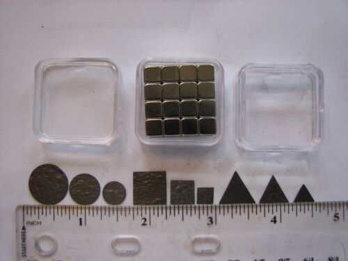 Pyrolytic Graphite Levitation Kit-- 9 Graphite Shapes, N48 Magnets, Storage Case