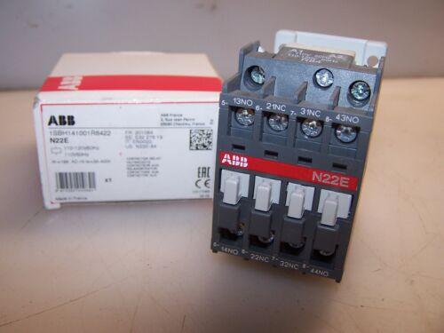 NEW ABB 16 AMP AC CONTACTOR RELAY 110-120 VAC COIL N22E
