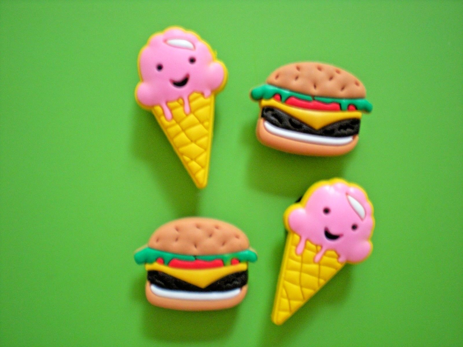 Clog Shoe Button Charm Burger Ice Cream Sandal Bracelet Accessories