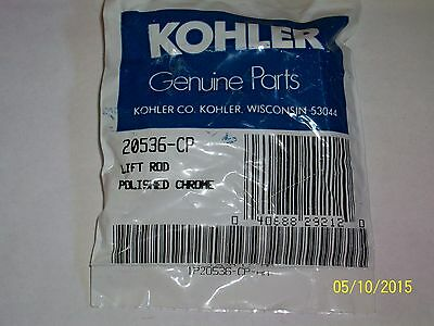 KOHLER  # 20536-CP , CHROME LIFT ROD KIT FITS TRITON II , SHOREHAM DIV SPOUTS