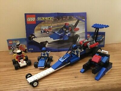 Lego 6714 Speed Dragster, 1096 Race Buggy, 6618 Blue Racer 100% compl. w/instr