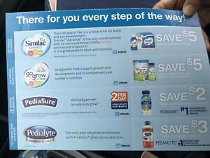 Similac Go & Grow Pediasure Pedialyte Coupon