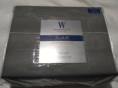 Wamsutta® 500-Thread-Count PimaCott® Sofa Bed Full Sheet Set - Solid Gray ()