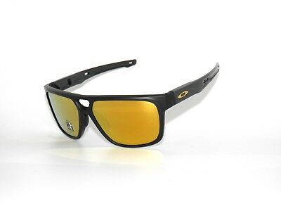 Oakley Crossrange Patch 9382-04 Matte Black 24K iridium Sunglasses Clearance