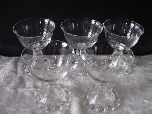 5 Imperial Candlewick 400-190 Liquor / Cocktail Clear Glass Stems