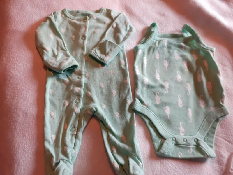Baby Girls Seahorse Lot  0/3months