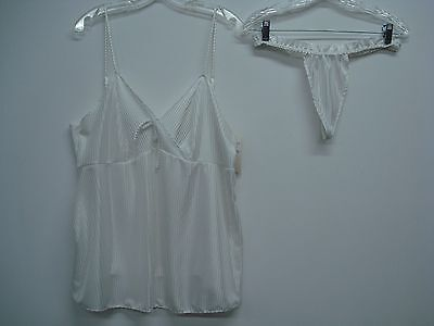 USA Made Nancy King Lingerie Baby Doll w/ Thong Pajamas Size 2X White #377C](Adult Baby Lingerie)