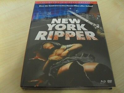 New York Ripper - Collector's 2-Disc Edition MEDIABOOK Blu Ray +DVD Lucio...