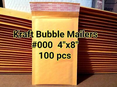 Lots Of 100 000 4x8 Kraft Self Sealed Bubble Mailers Padded Envelope Bags New