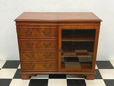 Antique regency style Lexterten glazed yew music hifi stereo cabinet - Delivery
