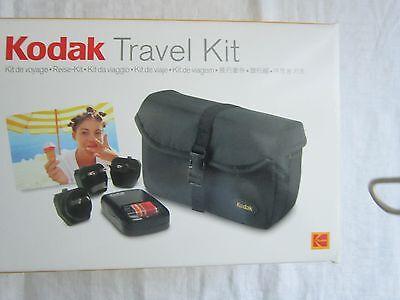 KODAK TRAVEL KIT - DIGITAL CAMERA - RAPID CHARGER, POWER PLUGS, TRAVEL CASE Kodak Travel Kit