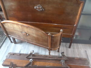 Antique bed frame,matching dresser