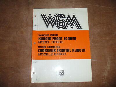 Kubota Bf900 Front Loader Shop Service Repair Manual