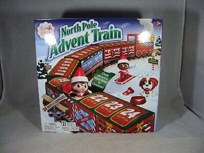 Elf On The Shelf North Pole Advent Train Calendar - NIB 2020 Free Shipping