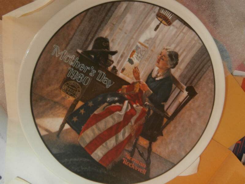 NORMAN ROCKWELL Collector Plate Mothers Day 1980 certificate numbered