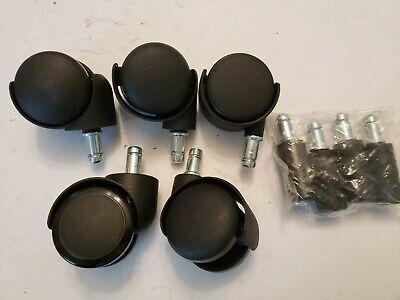 5 Shepherd Swivel Stem Dual Wheel Grey Hood Casters 2 Grip Ring Style Free Sh