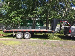 18 foot gooseneck or 5th wheel equipment trailer