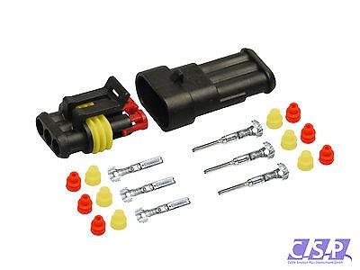 AMP Superseal Stecker Set 3-polig 0,75-1,50   KFZ, BOOT, LKW, Motorrad (Motorrad Amp)